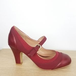 Journee Collection | Red Retro Mary Jane Heels